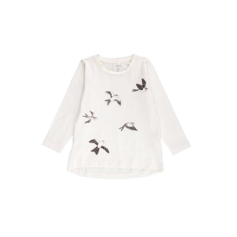 Camiseta niña asimétrica con bordado