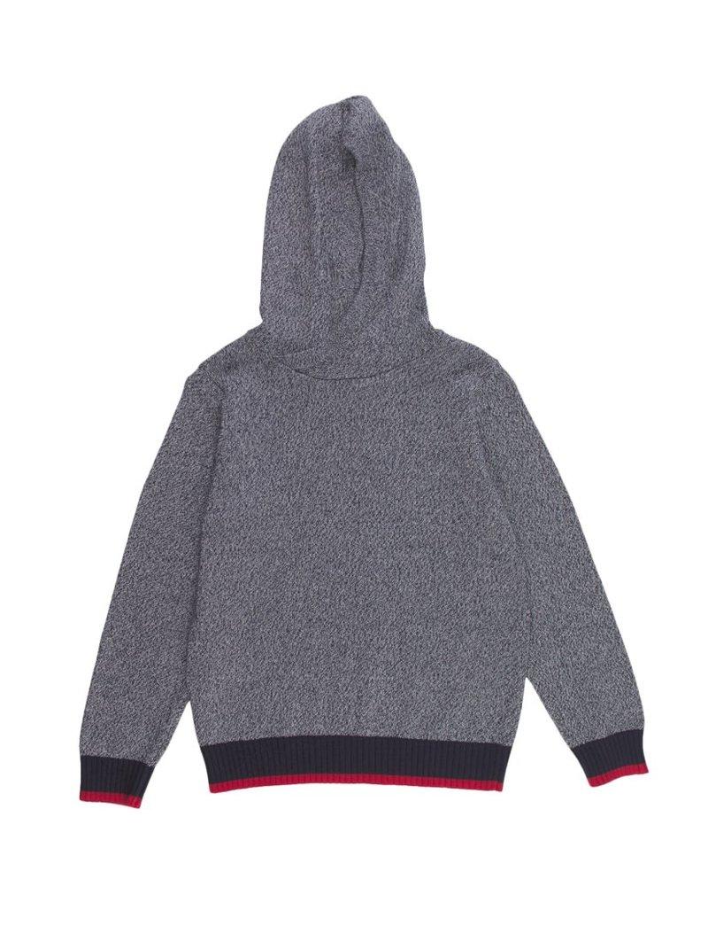 Jersey niño capucha punto tricot jaspeado