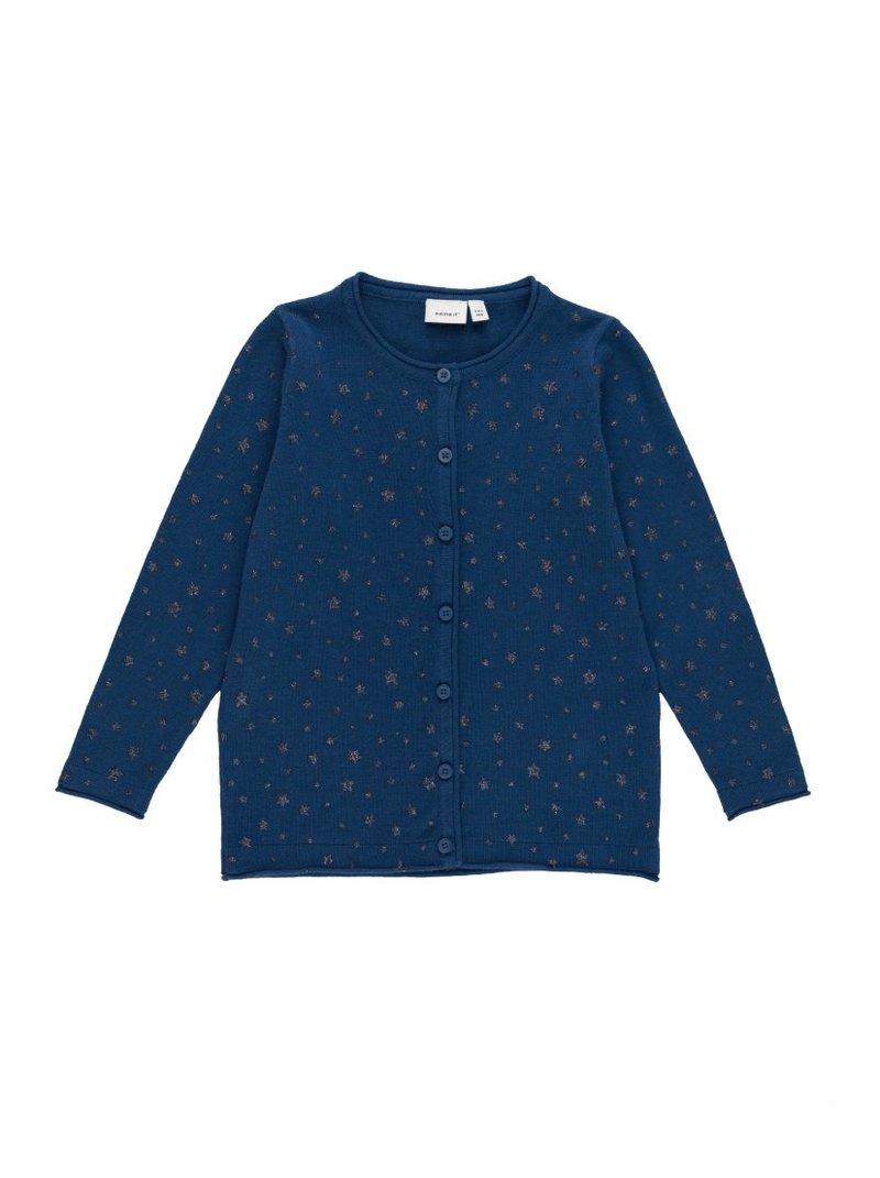 Chaqueta punto tricot niña de glitter