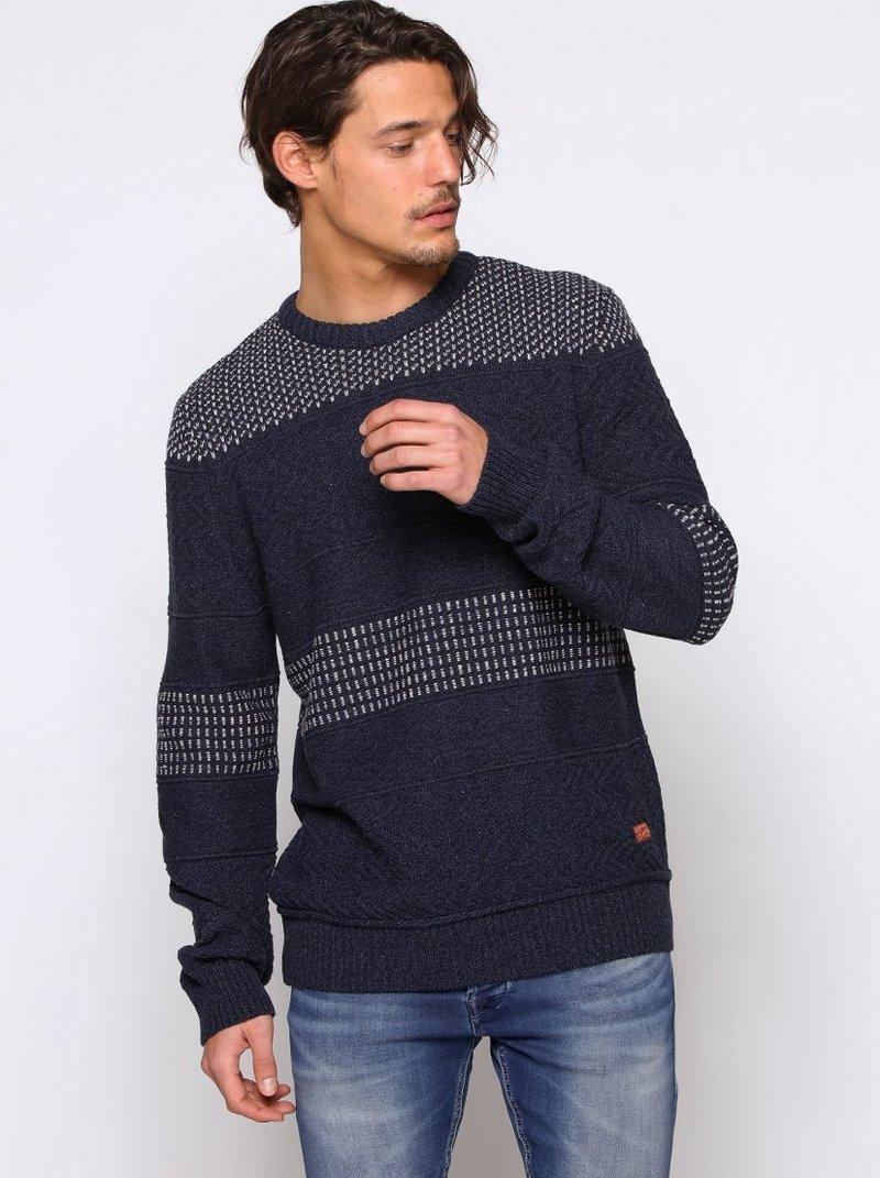 Jersey tricot fantasía con costuras