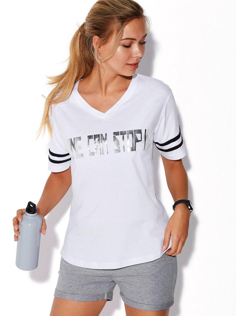 Camiseta estampadol mujer detalles metalizados
