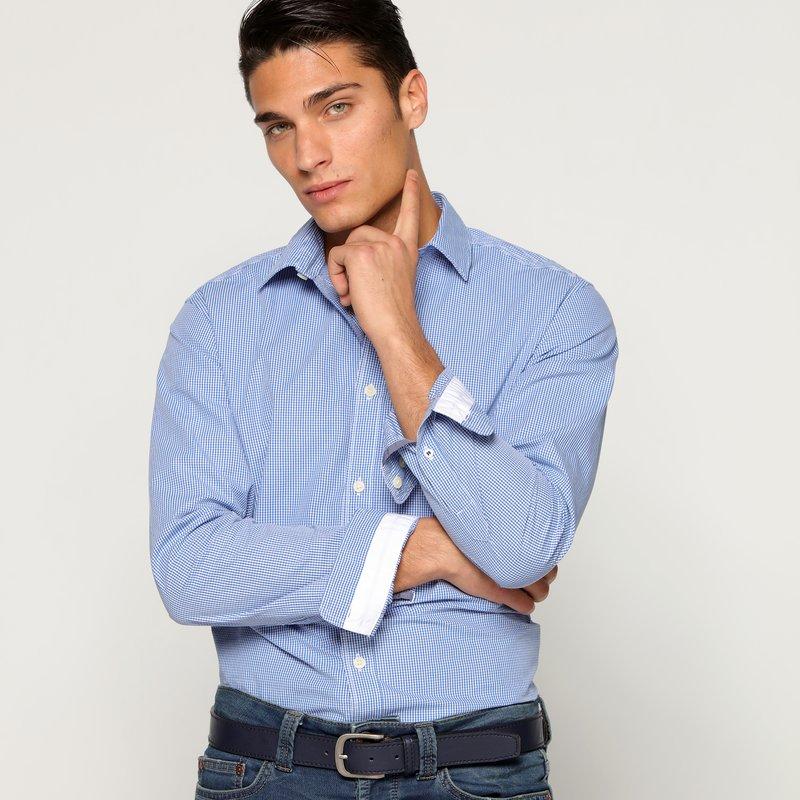 Camisa manga larga hombre slim fit