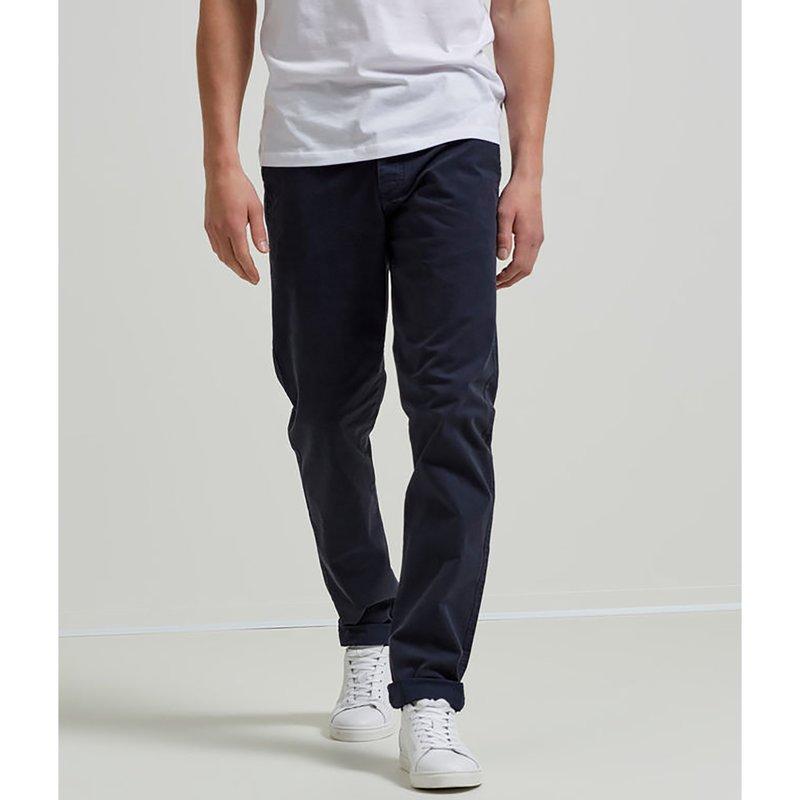 SELECTED - Pantalón hombre tipo chino de twill elástico