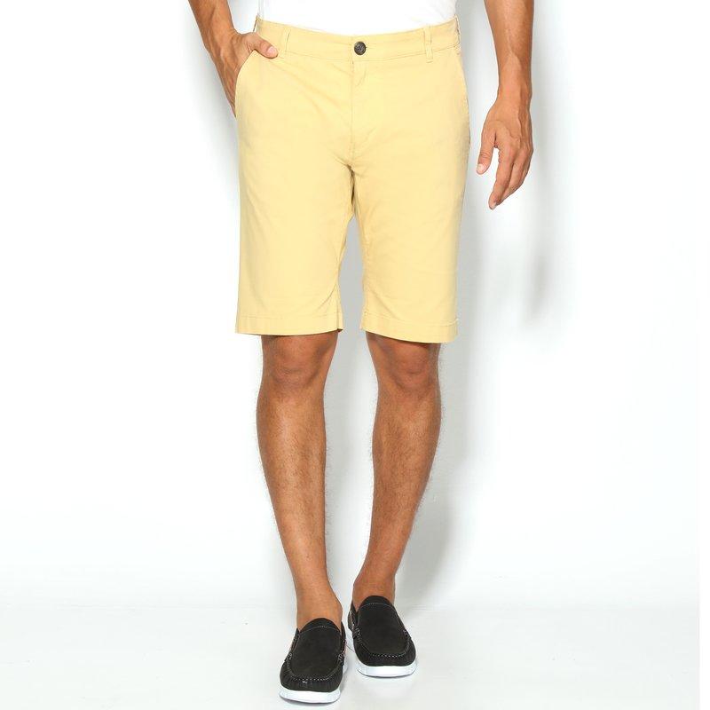 Pantalón chino elástico de gabardina