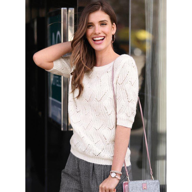 Jersey manga al codo tacto mohair tricot