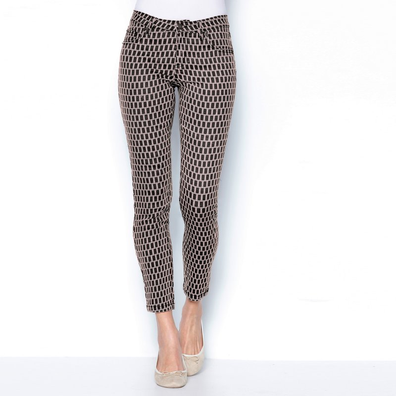 Pantalón 5 bolsillos geométrico elástico