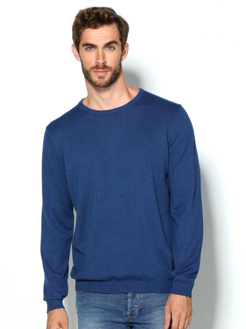 Jersey hombre en suave tricot jaspeado