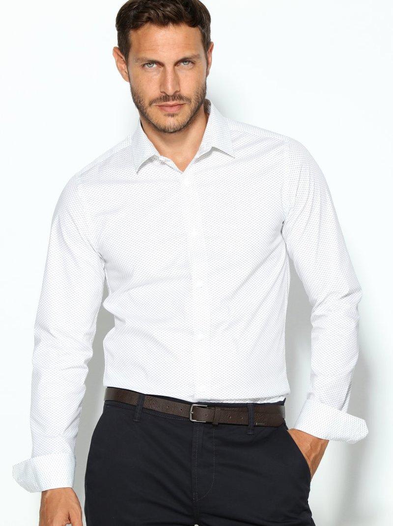 Camisa de hombre manga larga extra