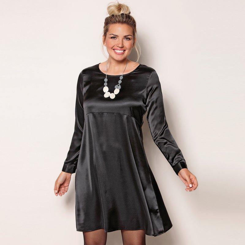 Vestido liso de satén tallas grandes
