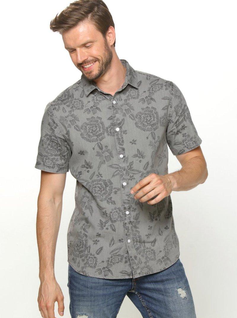 Camisa hombre manga corta estampado