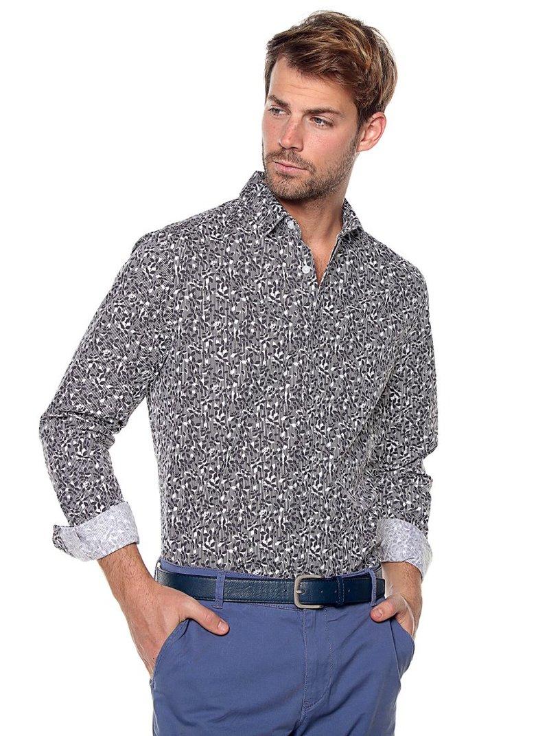 Camisa hombre manga larga mil rayas