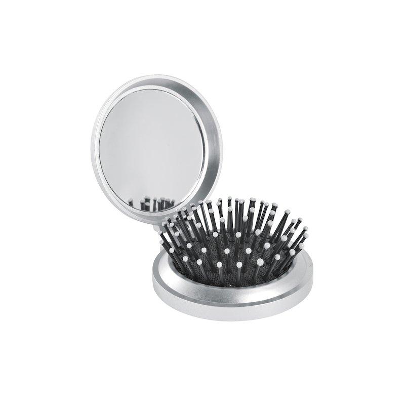 Cepillo redondo plegable con espejo