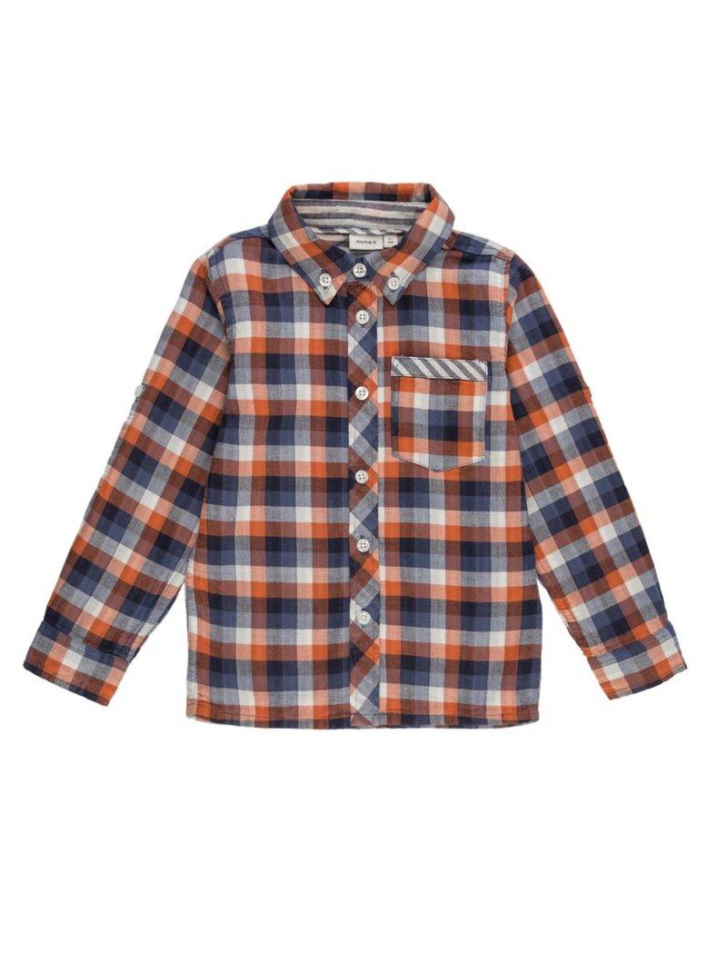Camisa Mini cuadros en algodón orgánico