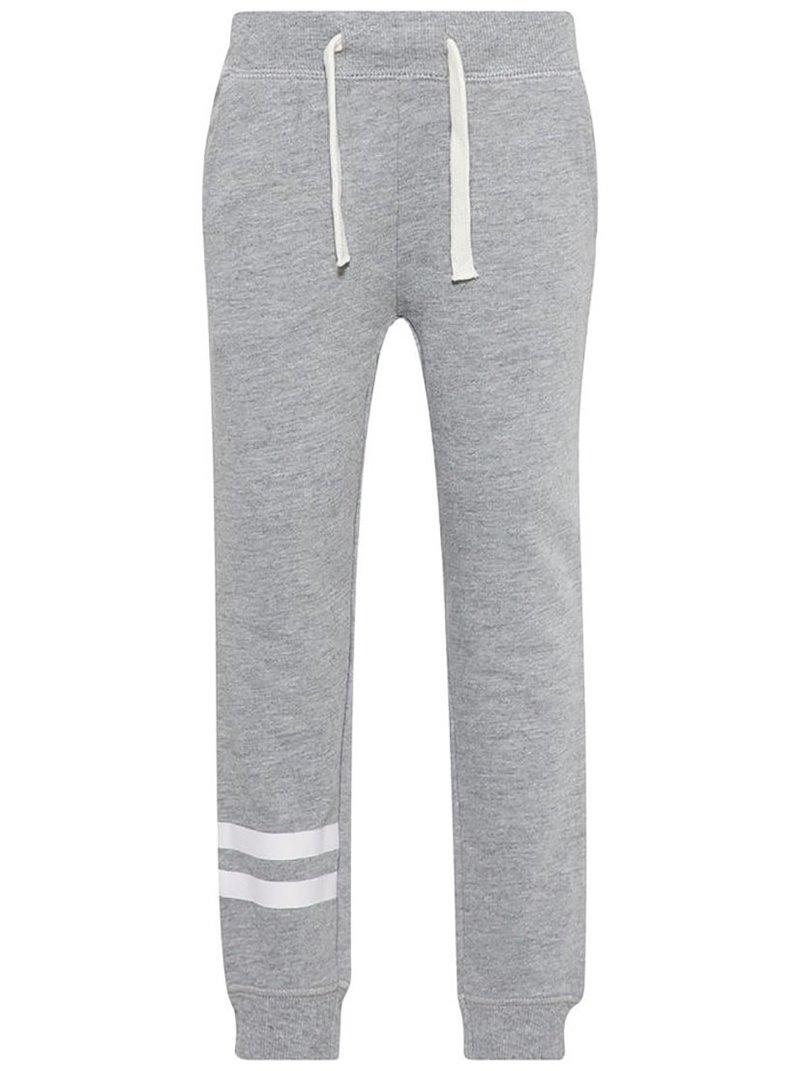 Pantalón felpa infantil con raya bajo pernera