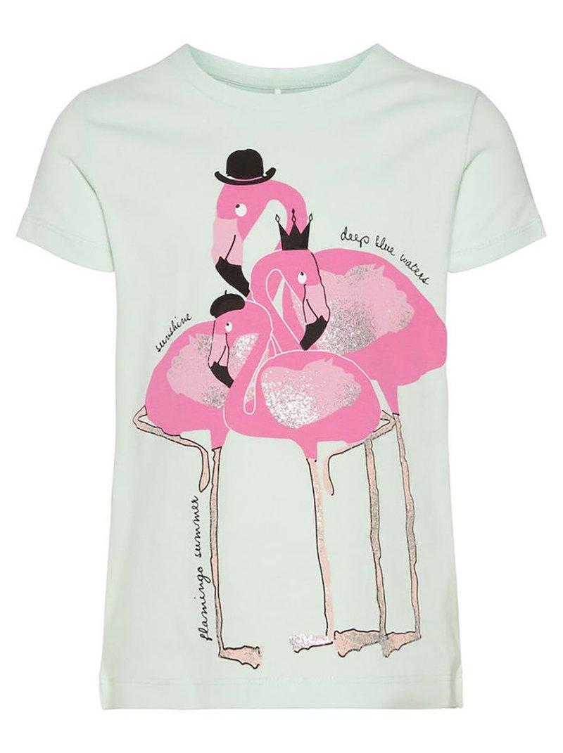 Camiseta algodón orgánico Mini print niña