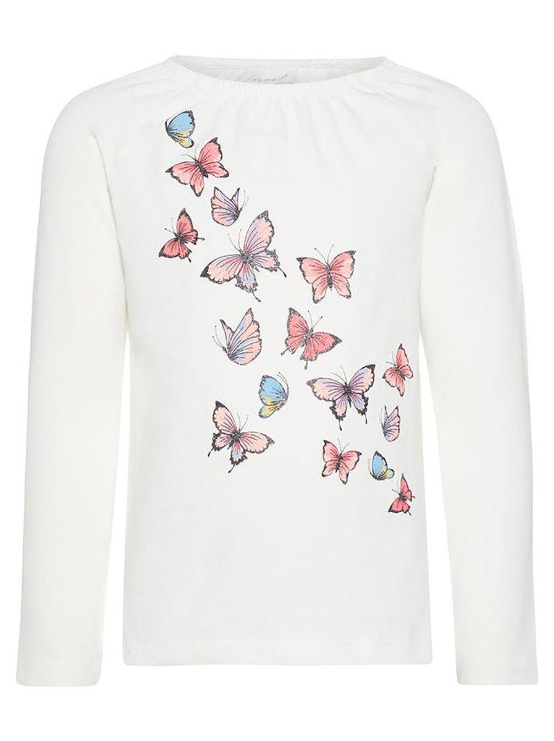 Camiseta algodón orgánico mariposas glitter