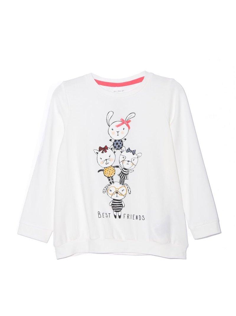 Camiseta niña manga larga animales