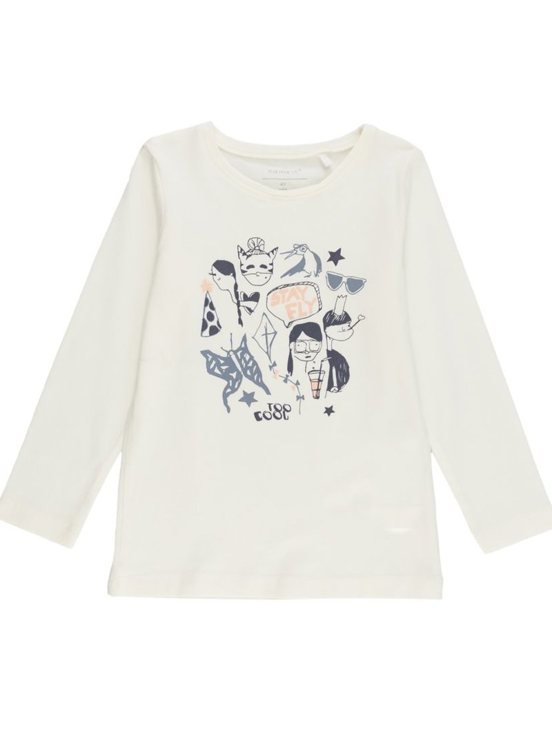 Camiseta niña manga larga con estampado