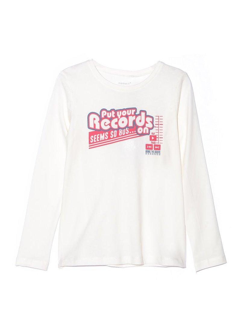 Camiseta manga larga niña con estampación