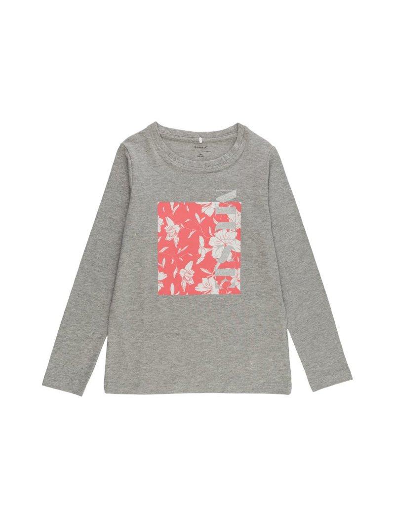 Camiseta niña estampado flores hibiscus