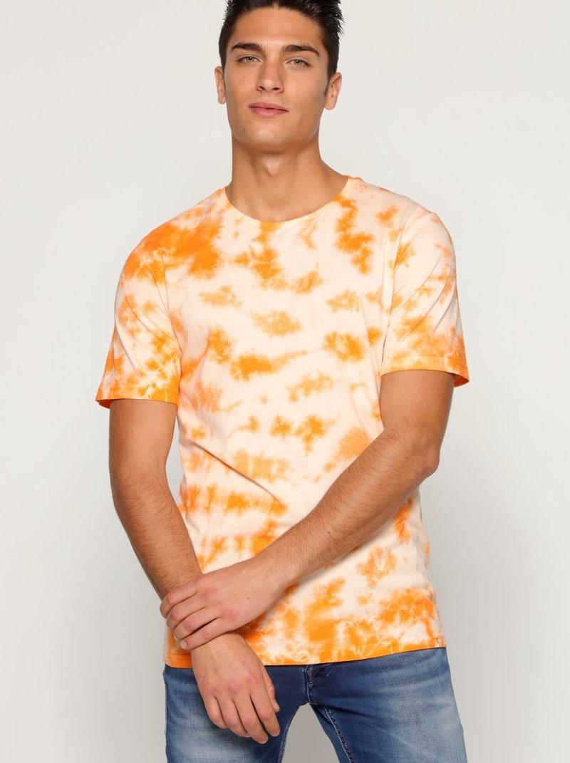 Camiseta hombre estampado tie dye agua