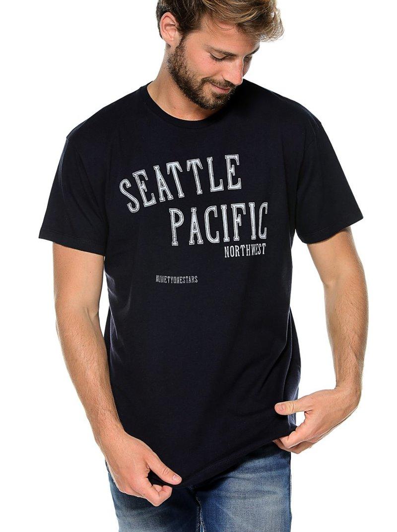 Camiseta de hombre manga corta estampado letras