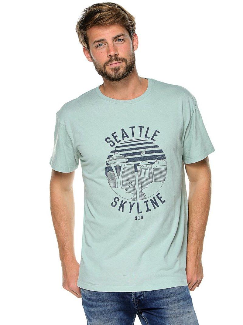 Camiseta de hombre manga corta Seattle Skyline