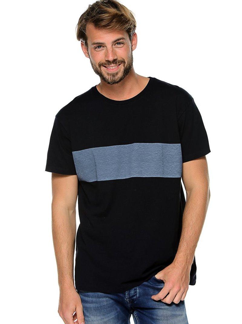 Camiseta de hombre franja estampada frontal
