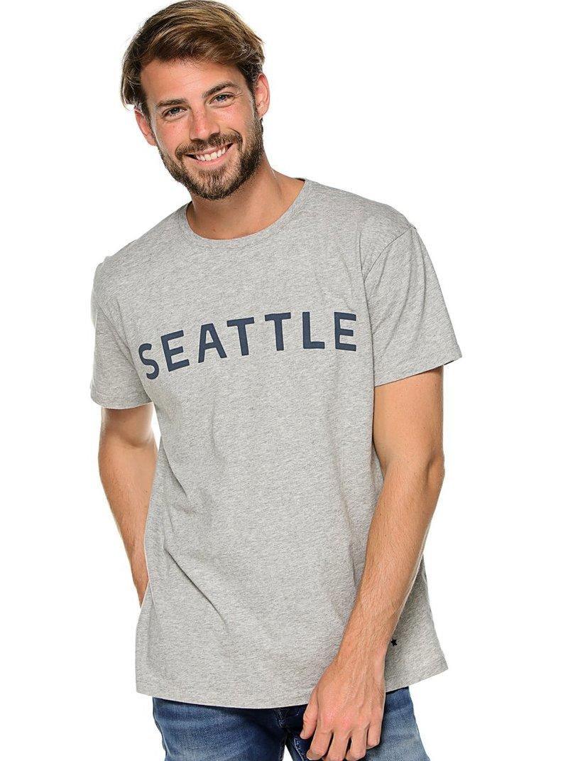 Camiseta hombre punto vigoré letras Seattle