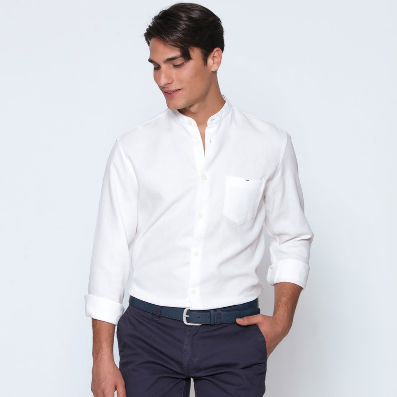 SELECTED - Camisa cuello mao manga larga hombre
