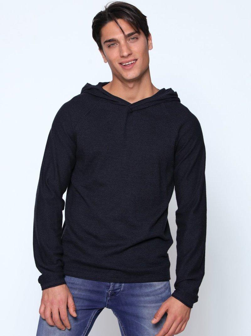 Jersey tricot jaspeado con capucha
