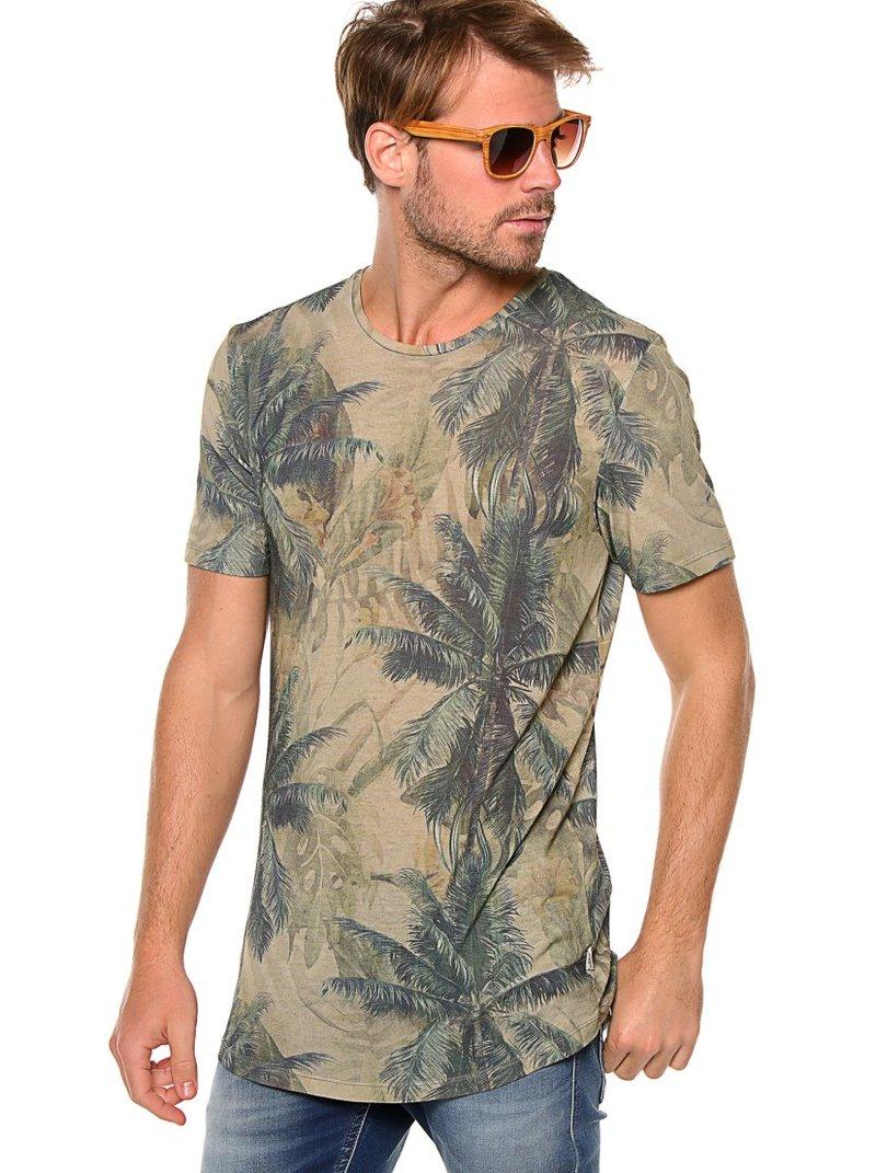 Camiseta hombre manga corta tropical