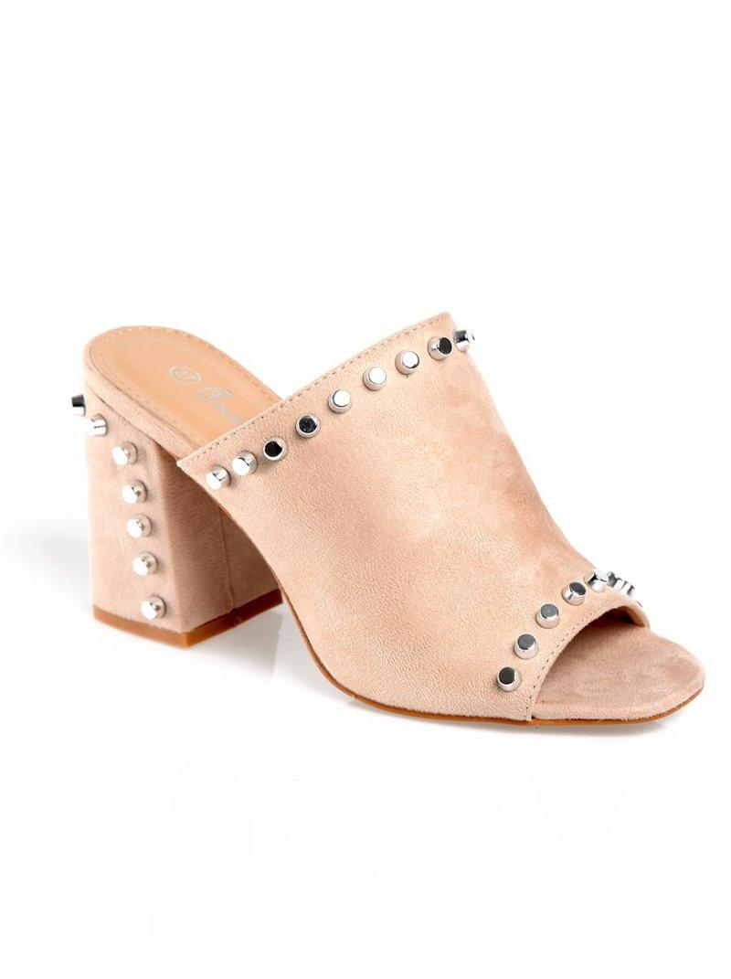 Zapatos de tacón con puntera y talón abierto