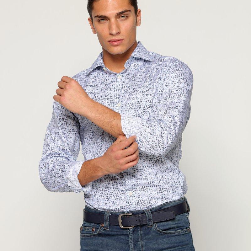 Camisa manga larga hombre micro tréboles