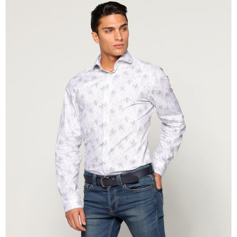 Camisa  hombre cuello italiano estampado
