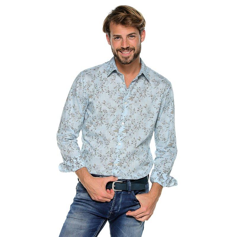 Camisa para hombre slim fit estampada