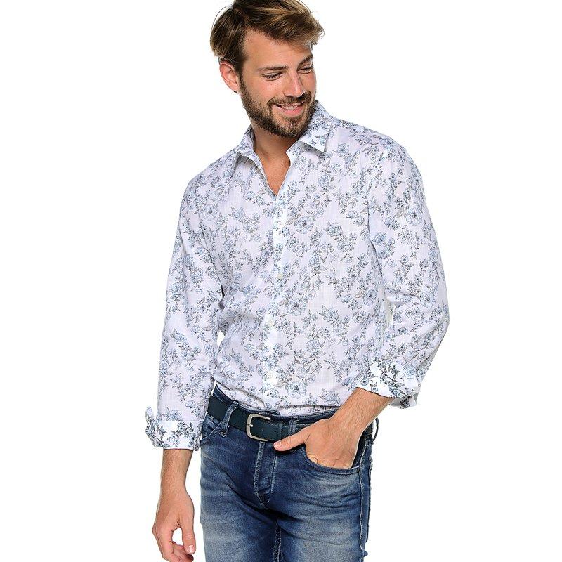 SELECTED - Camisa para hombre slim fit estampada