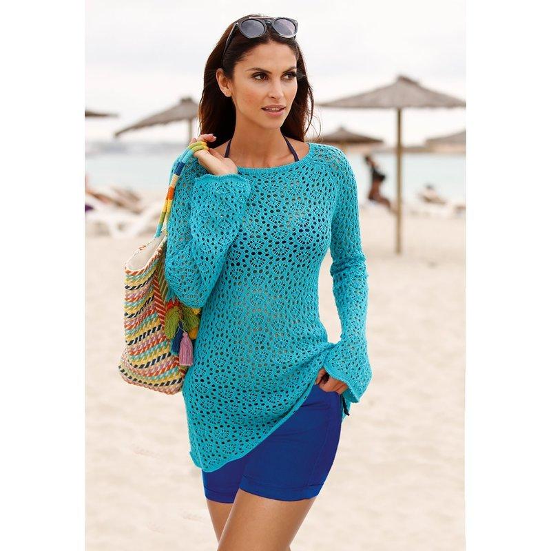 Jersey de tricot calado acabado en ondas