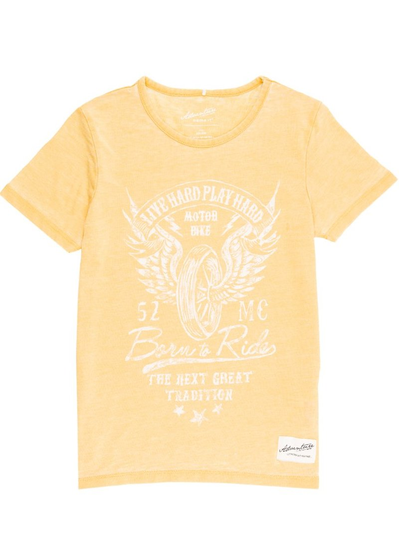 Camiseta manga corta Kids niño efecto lavado