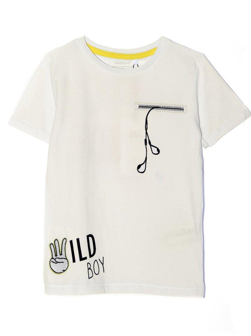 Camiseta niño manga corta con estampados