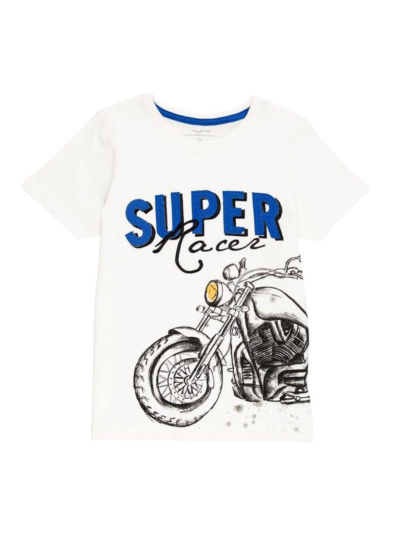 Camiseta de niño estampado motero