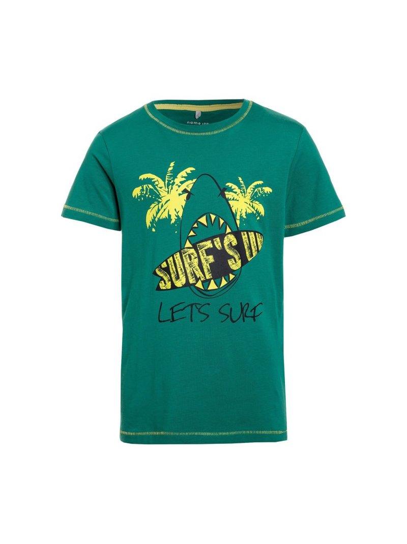 Camiseta niño MINI Surf con pespuntes manta