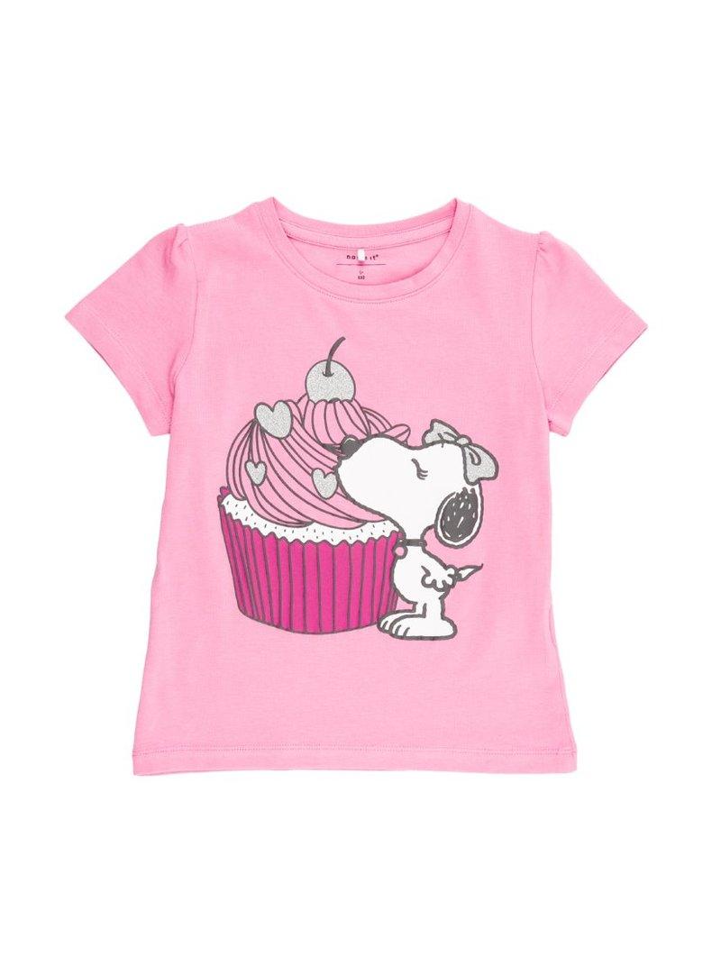 Camiseta de niña estampado Snoopy con glitter