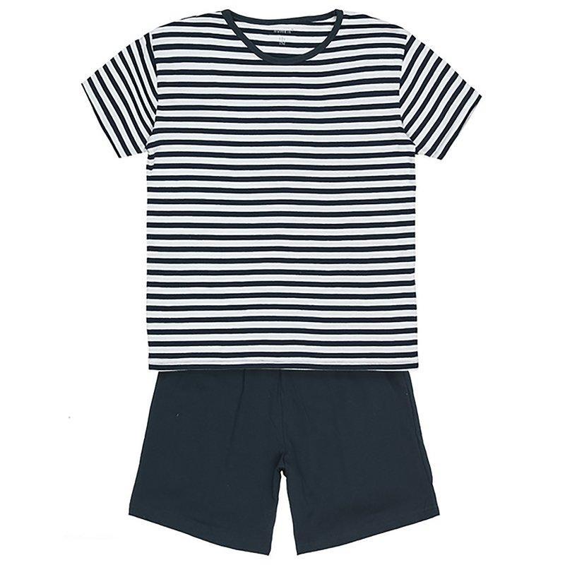 Pijama 2 piezas niño MINI con camiseta rayas