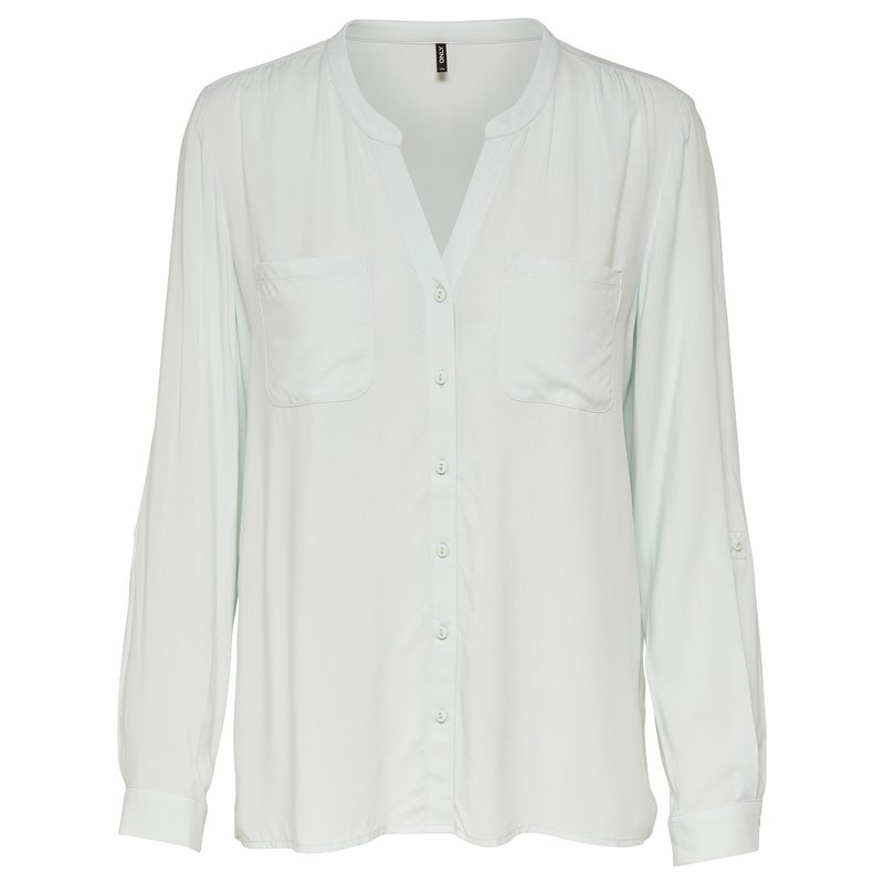Camisa mujer manga larga cuello V - Only