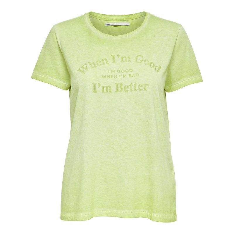 ONLY - Camiseta mujer manga corta con estampado