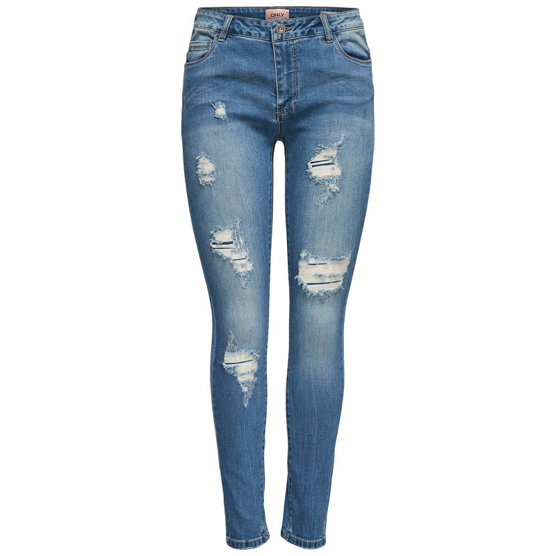 Vaquero skinny fit mujer con rotos decorativos - Only