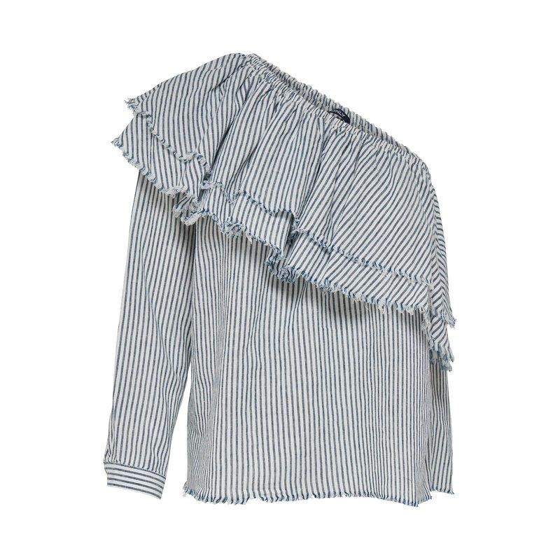 Blusa mujer estampada con hombro descubierto - Only