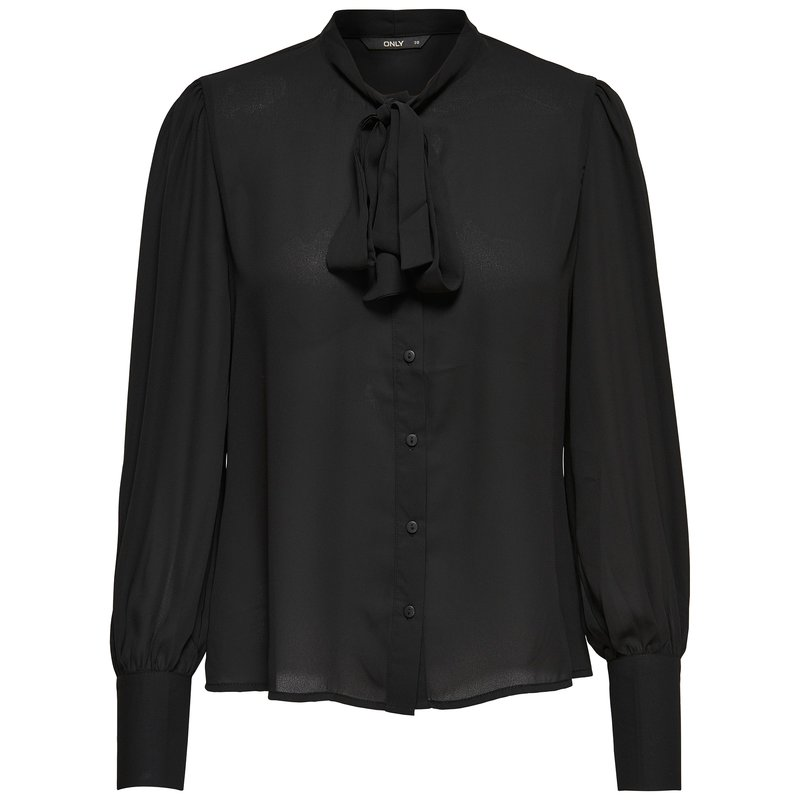 ONLY - Camisa mujer manga larga y escote redondeado