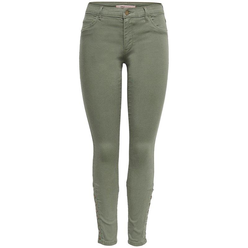 Pantalón largo mujer con botones laterales - Only